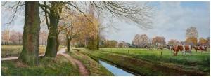 Olieverfschilderij Sniedersbeek - Ed Boelaarts - Koppelkerk