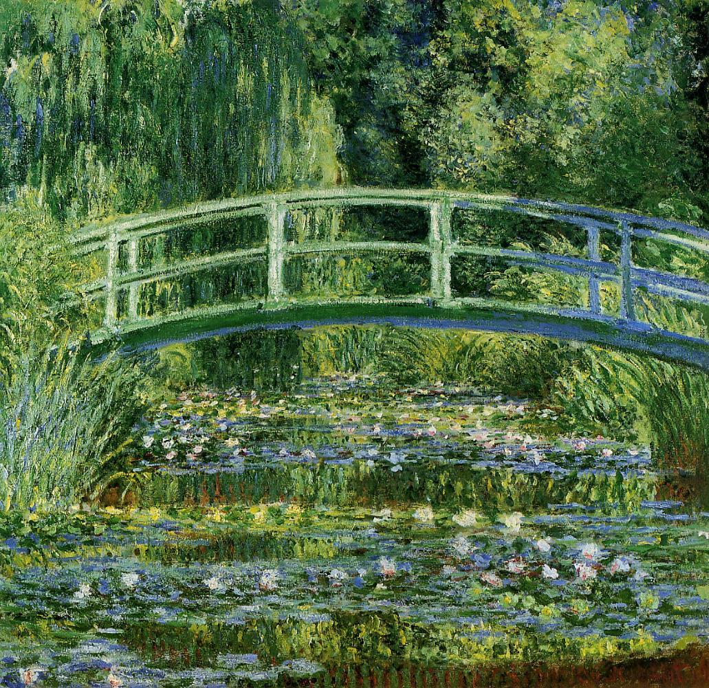 Monet - De Japanse brug en de waterlelies