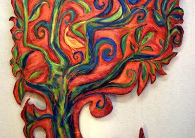 Rode Levensboom met vogels