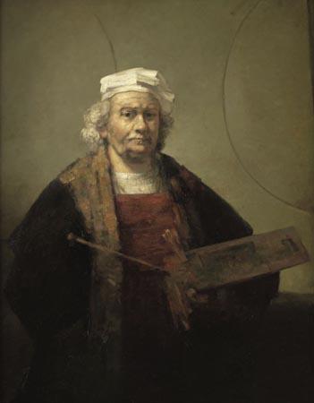 Henk Helmantel - Kopie van Rembrandts zelfportret (1665) 122x95 cm - 1993