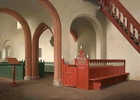 Henk Helmantel - Achter het doxaal van de kerk in Buttforde, Duitsland