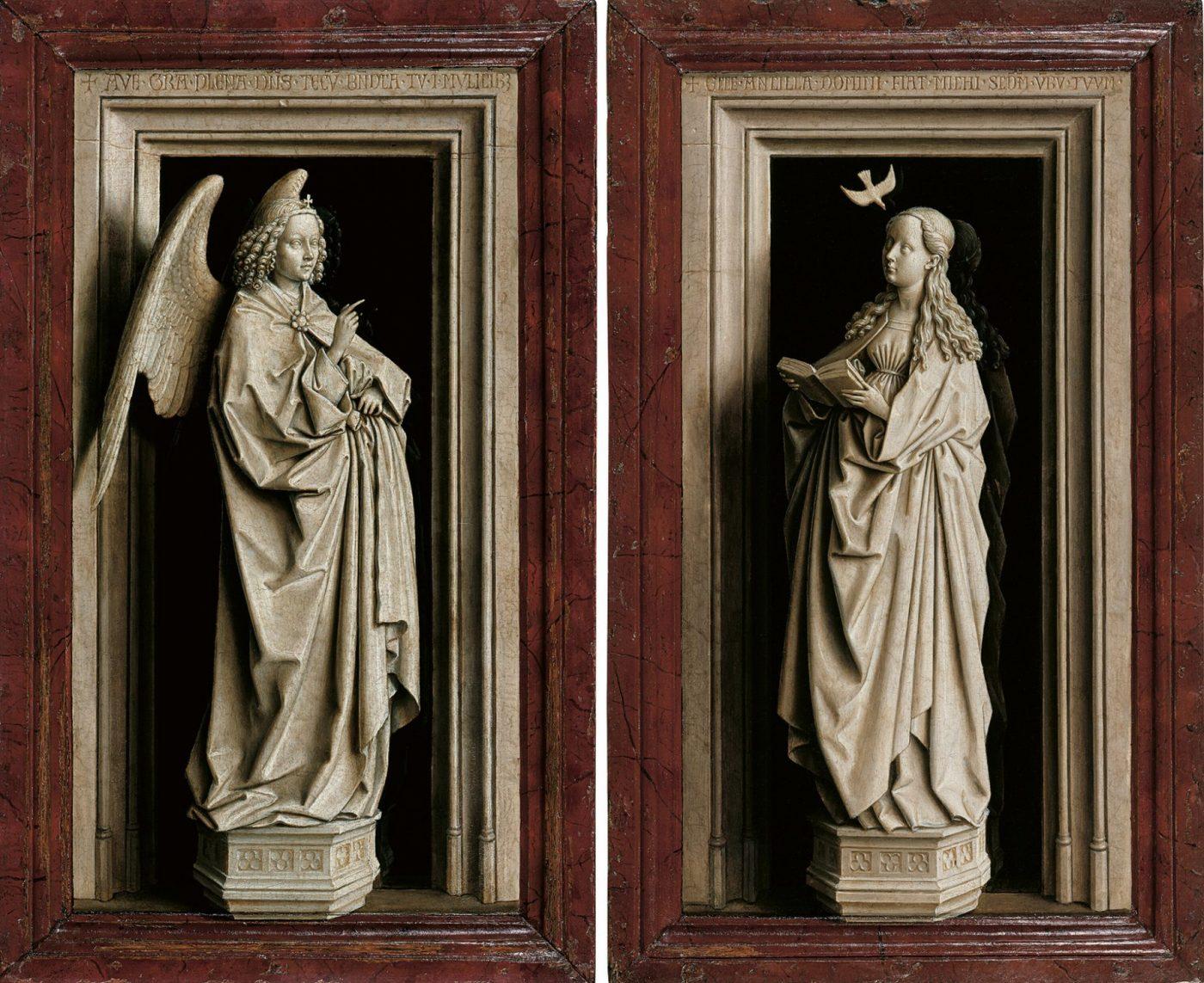 Jan van Eyck, De Annunciatie diptiek