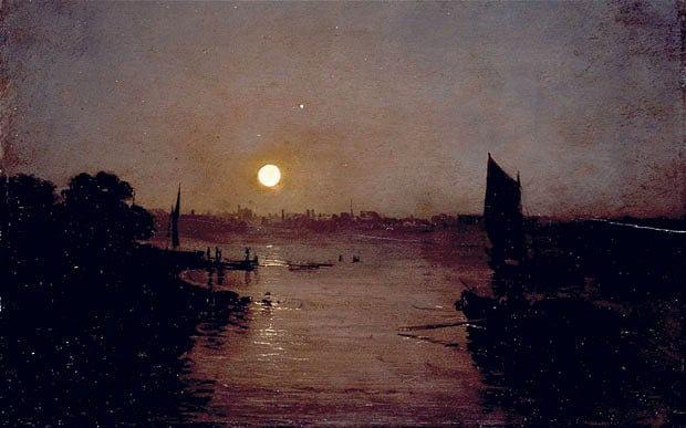 Turner - Moonlight, A Study at Millbank