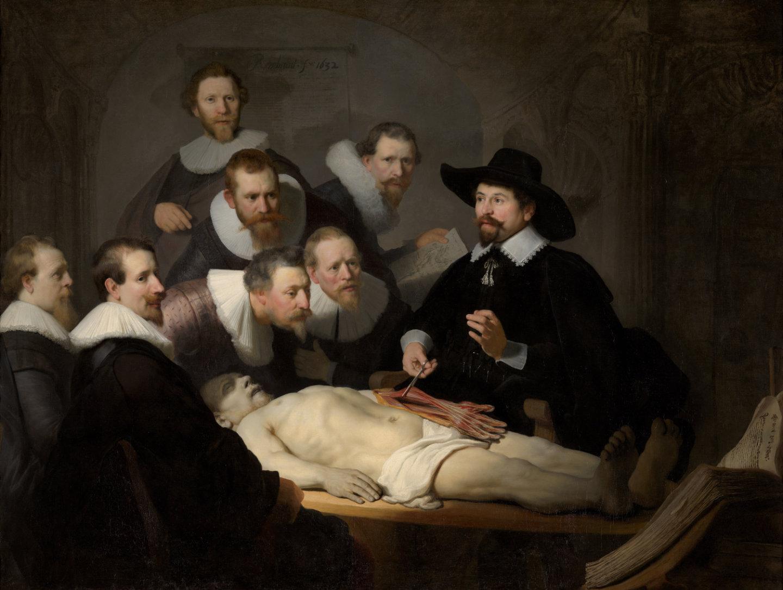 Rembrandt - De anatomische les