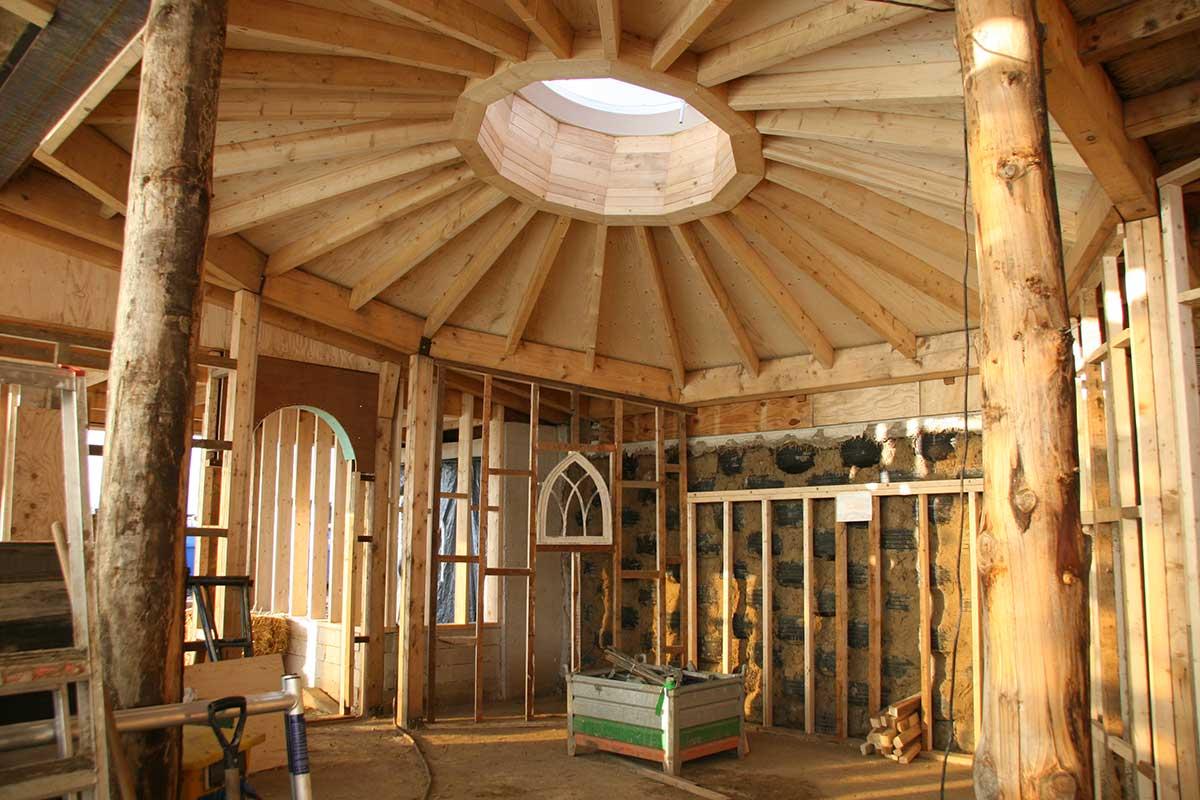 Aardehuizen in Olst (binnenzijde, in aanbouw) - foto ORIO-Architecten