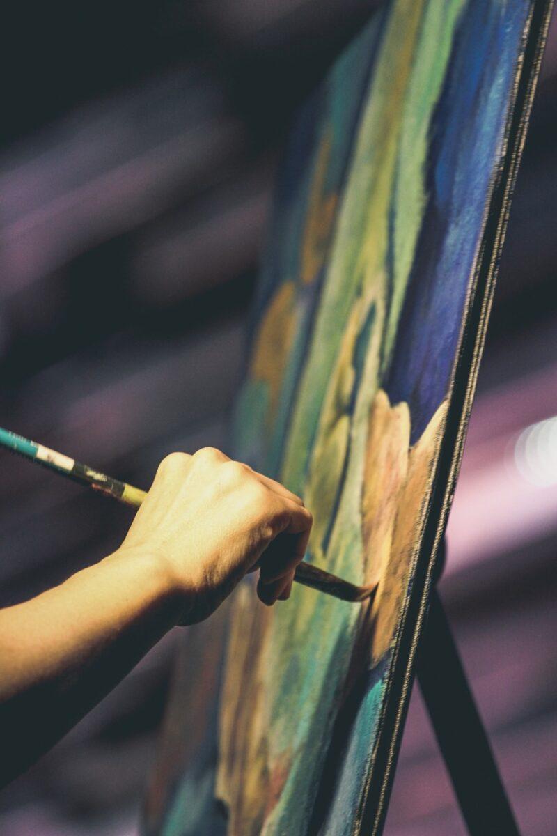 Schildercursus voor volwassenen in de Koppelkerk door Esther Visser